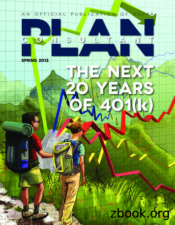 spring 2012 The Next 20 years (k) - American Society of .