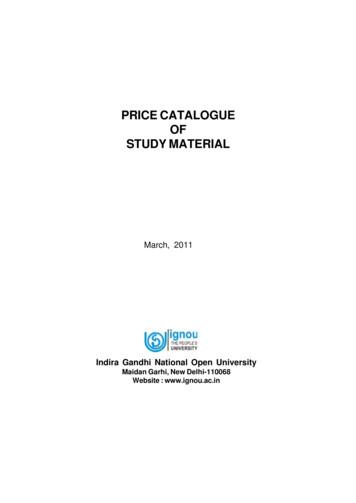 PRICE CATALOGUE OF STUDY MATERIAL