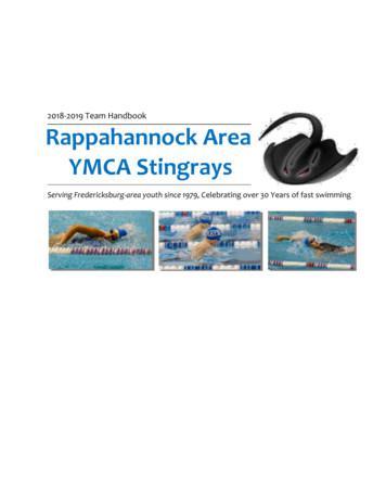 2018-2019 Team Handbook Rappahannock Area YMCA Stingrays