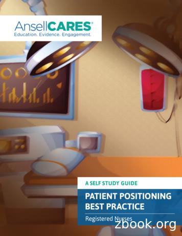 PATIENT POSITIONING BEST PRACTICE