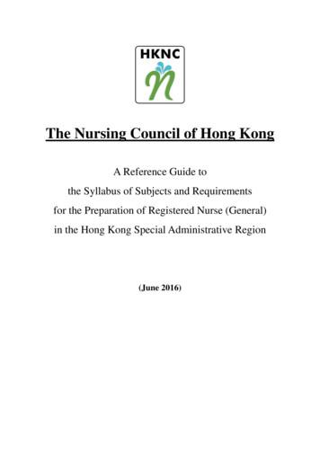 The Nursing Council of Hong Kong