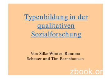 Typenbildung in der qualitativen Sozialforschung
