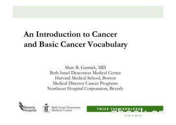 An Introduction to Cancer and Basic Cancer Vocabulary