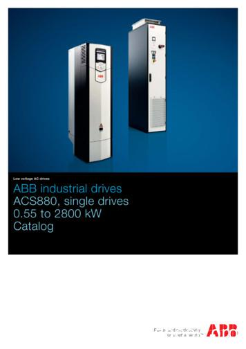 ABB industrial drives - ACS880, single drives, 0.55 to .