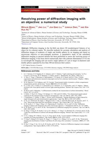 Resolving power of diffraction imaging with an objective .