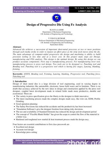 Design of Progressive Die Using Fe Analysis
