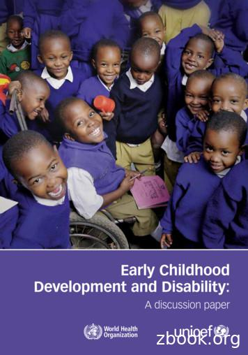Early Childhood Development and Disability