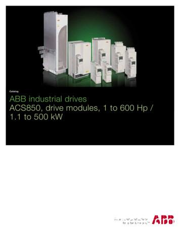 Catalog ABB industrial drives ACS850, drive modules, 1 to .