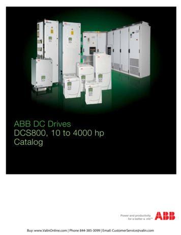ABB DCS800 Industrial DC Drives Catalog - ValinOnline