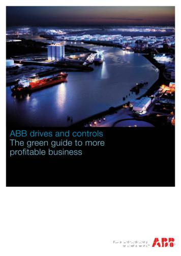 ABB drives and controls The green guide to more profitable .