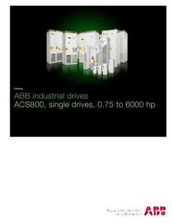 Catalog ABB industrial drives ACS800, single drives, 0.75 .