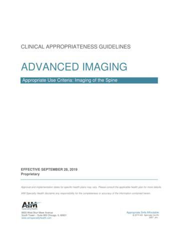 ADVANCED IMAGING - AIM Specialty Health
