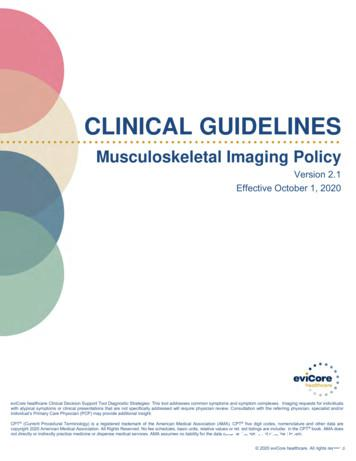 Musculoskeletal Imaging Policy
