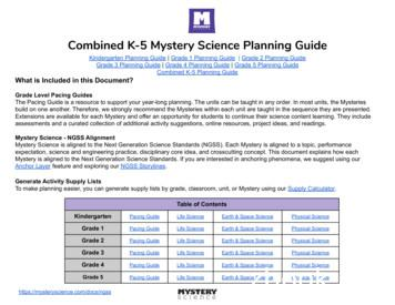 Combined K-5 Mystery Science Planning Guide