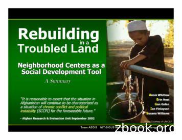 Rebuilding - Massachusetts Institute of Technology
