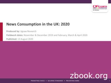 News Consumption in the UK: 2020