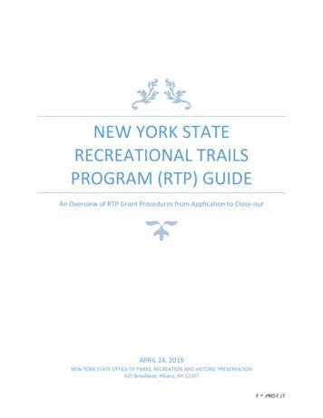 New York State Recreational Trails Program (RTP) Guide .