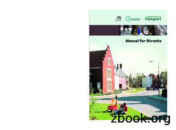 Manual for the Streets - GOV.UK