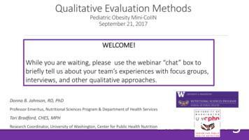 Qualitative Evaluation Methods - ASPHN