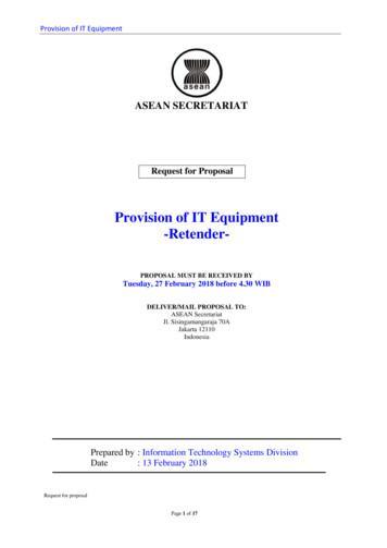 Provision of IT Equipment -Retender-