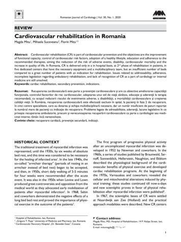 REVIEW Cardiovascular rehabilitation in Romania