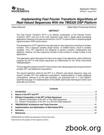 Fast Fourier Transform Algorithms of Real-Valued Sequences .