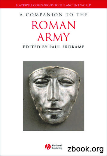 A COMPANION THE ROMAN ARMY - Weebly