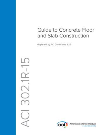 ACI 302.1R-15: Guide to Concrete Floor and Slab Construction