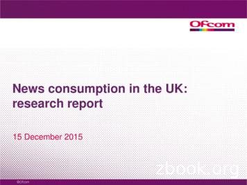 News consumption in the UK: research report