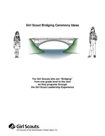 Girl Scout Bridging Ceremony Ideas