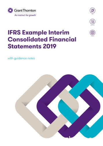 2019 interim example financial statements