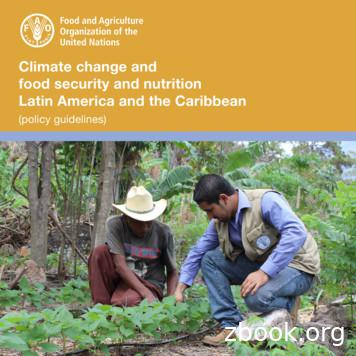 Climate change and food security and nutrition Latin .