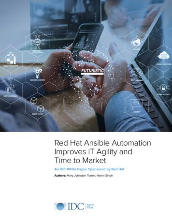 Red Hat Ansible Automation Improves IT Agility and Time to .