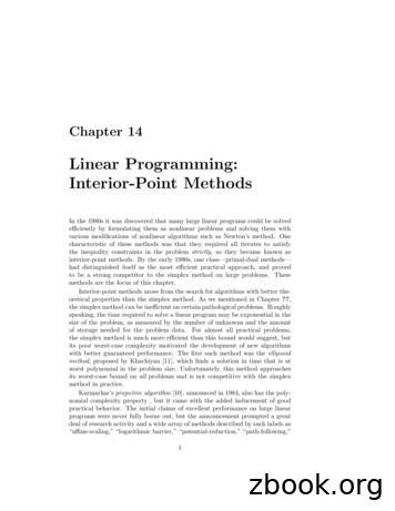 Linear Programming: Interior-Point Methods
