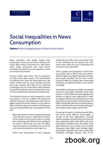 Social Inequalities in News Consumption