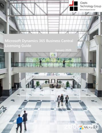 Microsoft Dynamics 365 Business Central Licensing Guide