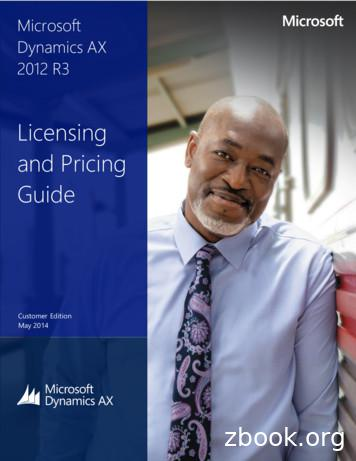Licensing and Pricing Guide - Microsoft Dynamics Partner .