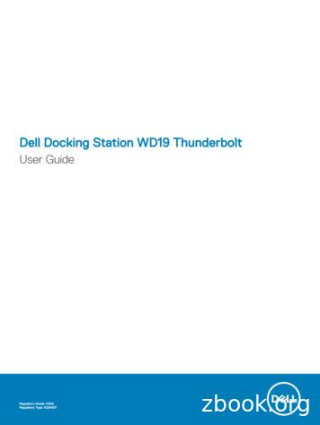 Dell Docking Station WD19 Thunderbolt User Guide