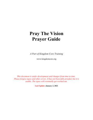 Pray The Vision Prayer Guide - Kingdom Core