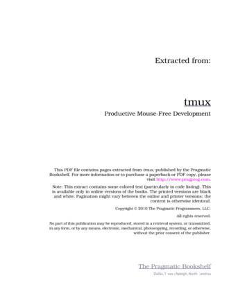 Productive Mouse-Free Development - Pragmatic Bookshelf