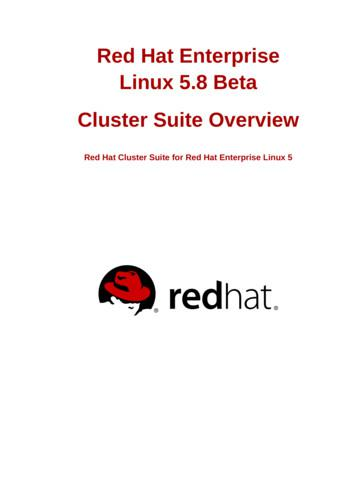 Cluster Suite Overview - Red Hat Cluster Suite for Red Hat .