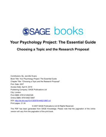 Your Psychology Project: The Essential Guide