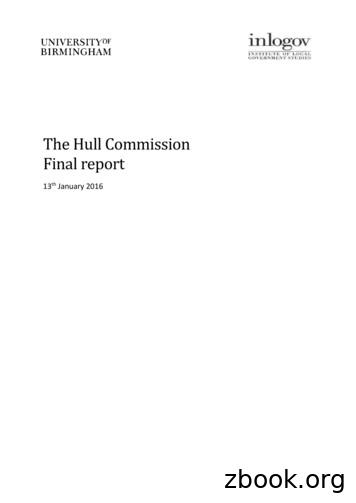 The Hull Commission Final report - Emap