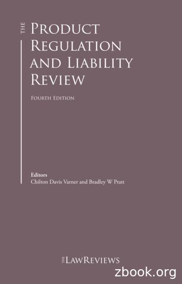 Product Regulation and Liability Review - Clayton Utz