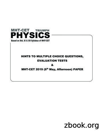 MHT-CET PHYSICS - Target Publications
