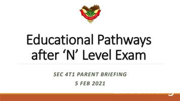 Educational Pathways after 'N' Level Exam