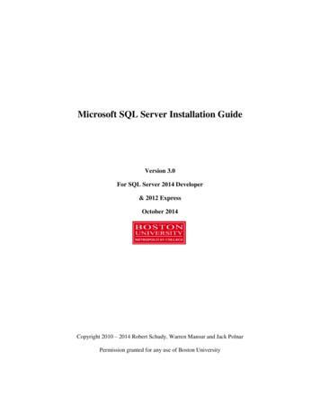 Microsoft SQL Server Installation Guide