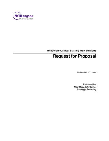 Temporary Clinical Staffing MSP Services Request for Proposal