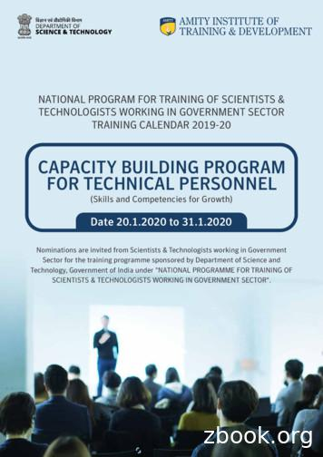 CAPACITY BUILDING PROGRAM FOR TECHNICAL PERSONNEL