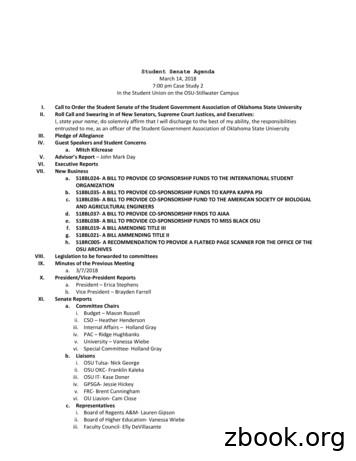 Student Senate Agenda - Leadership & Campus